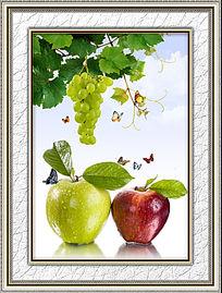 餐厅诱人水果装饰画
