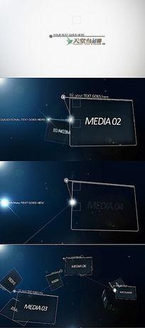 大气星空链接线条图文展示片头