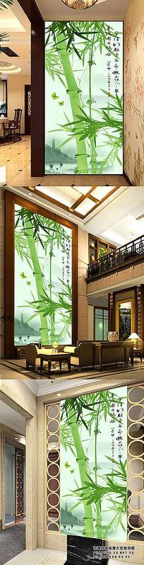 高清竹子玄关背景墙