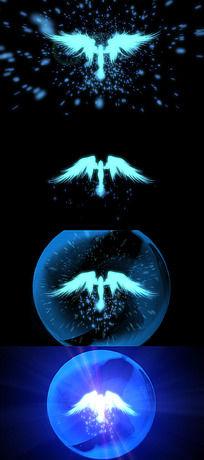 天使翅膀婚庆婚礼祝福视频LED背景