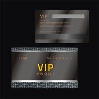金色时尚花纹VIP贵宾卡素材