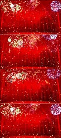绽放烟花焰火红色喜庆晚会视频 mov