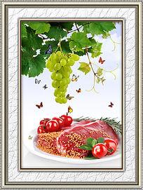 餐厅新鲜食物装饰画