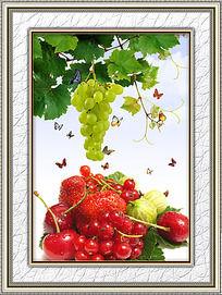 餐厅新鲜水果装饰画