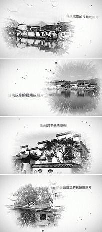 江南中国风水墨ae片头模板