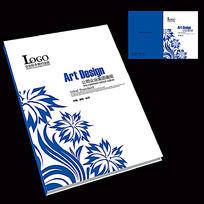 蓝色花纹封面设计