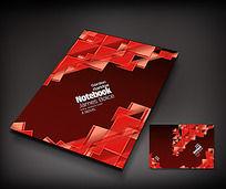 红色创意笔记本封面