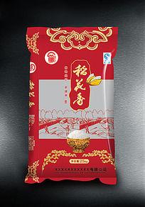 红色稻花香大米包装