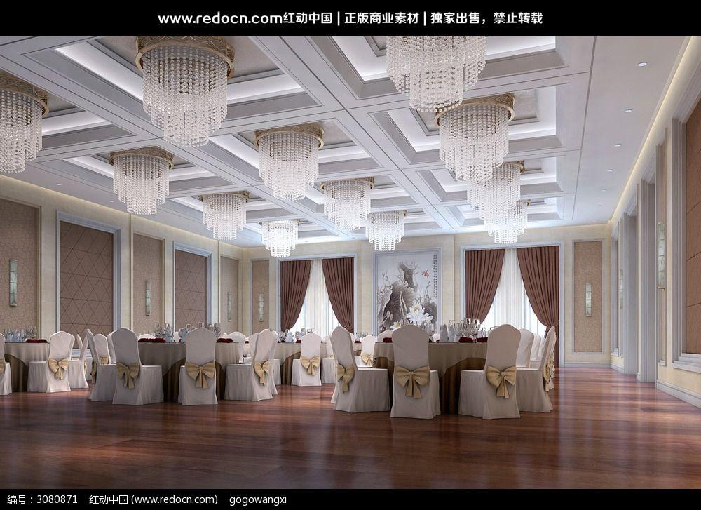 酒店宴会厅设计3d效果图图片高清图片