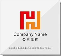 字母f变形企业logo设计