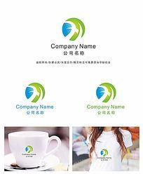字母x变形企业logo设计
