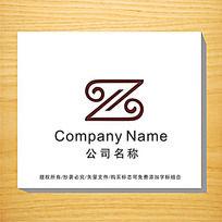 字母z变形企业logo设计图片
