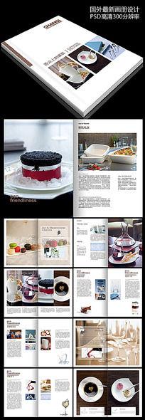 蛋糕面包甜点画册模板