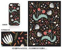 矢量水果花朵iPhone手机壳印花花纹