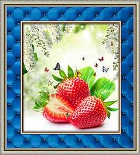 草莓蝴蝶餐厅装饰画