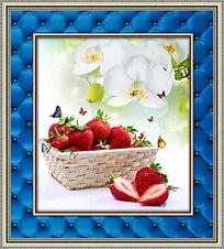 蝴蝶兰草莓餐厅装饰画