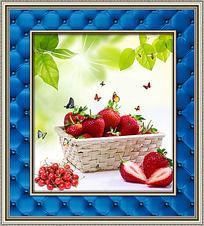 樱桃草莓餐厅装饰画