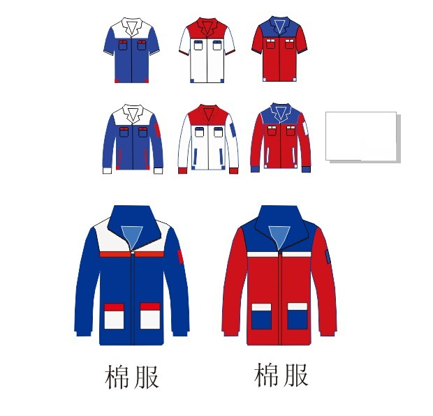 工作服设计模板cdr素材下载_服装|t恤|鞋帽设计图片