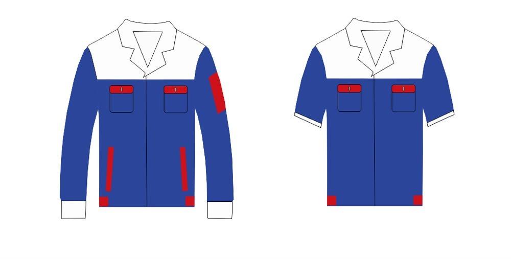 蓝色工作服设计模板