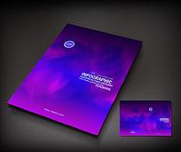紫红色渐变艺术封面