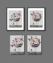 时尚花瓶花卉无框画装饰画
