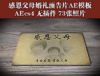 感恩父母婚礼预告片AE模板