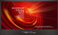 红色放射线条背景板