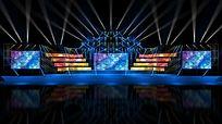 演唱会舞台舞美设计3D效果图