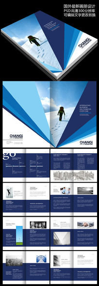 国外创意精品企业画册图片
