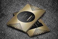 金色时尚造型师名片模板
