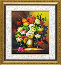 9款 古典花卉油画装饰画素材PSD下载