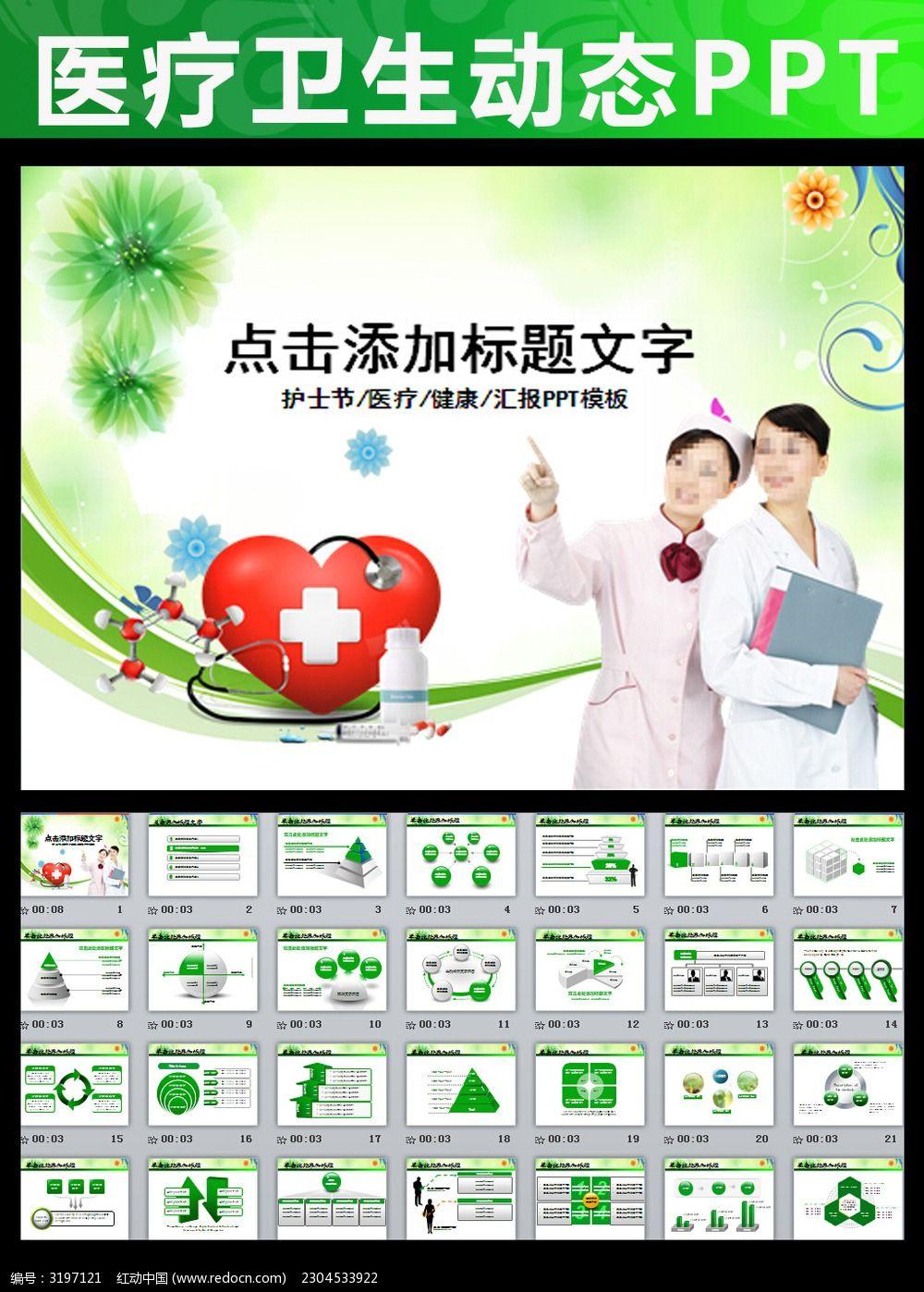 制药厂医药医院医生护士医疗绿色ppt图片