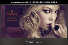 国外女人创意海报