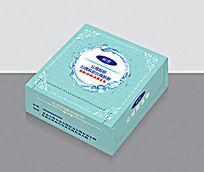 蓝色纸抽盒包装