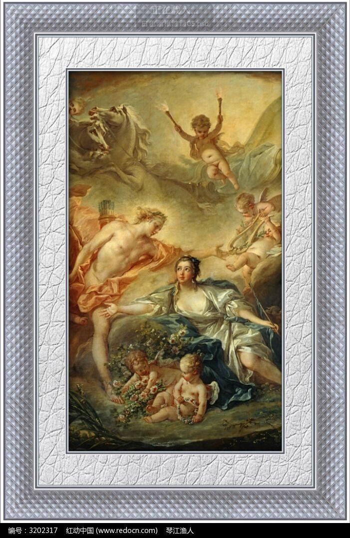 欧洲贵族油画装饰画