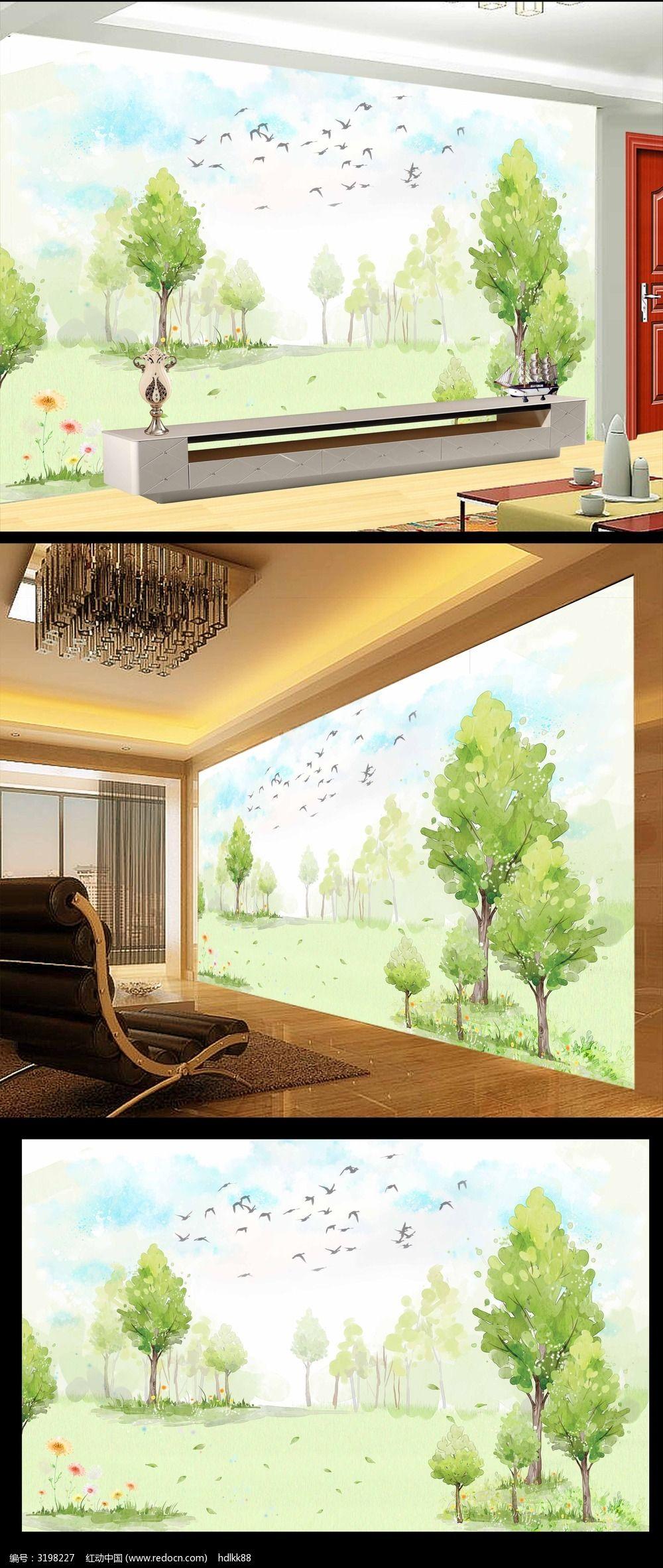 室内手绘墙壁图