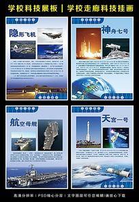 中国航空科技宣传展板图片