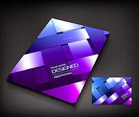 绚丽紫色商务封面