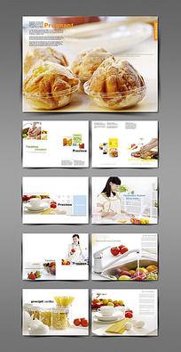 早餐面包水果宣传画册