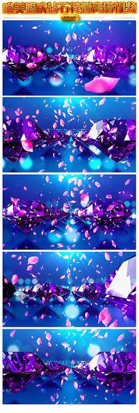 钻石玫瑰花瓣飞舞视频模板