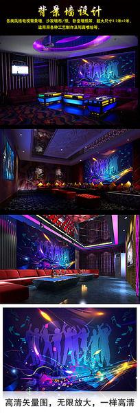 梦幻KTV音乐背景墙