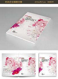 牡丹花朵婚庆公司画册封面设计