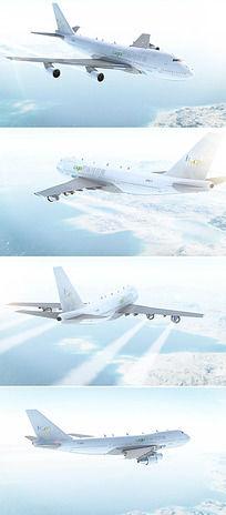 航空公司logo图标演绎ae模板