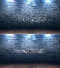 粒子汇聚成logo片头视频素材