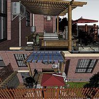 草图大师sketchup私家花园景观模型