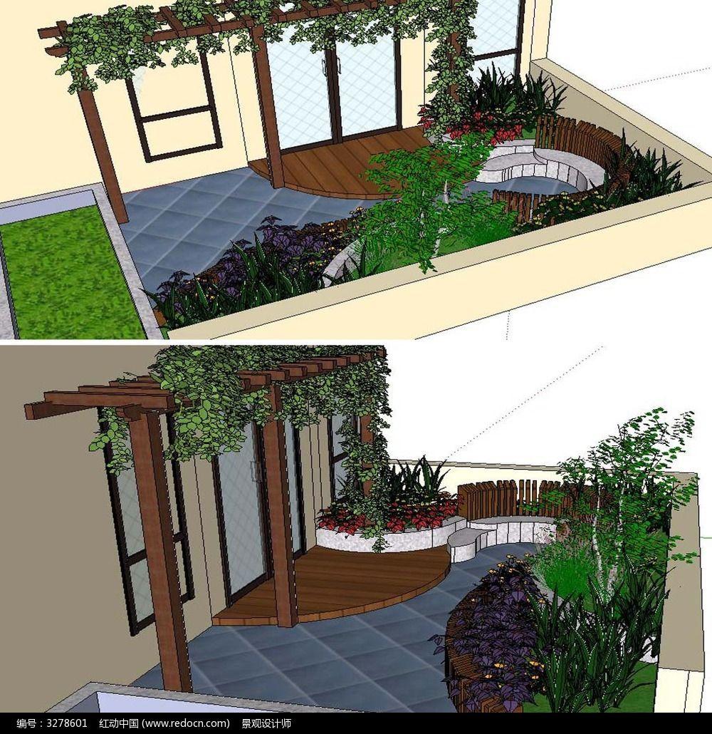 庭院花园景观模型