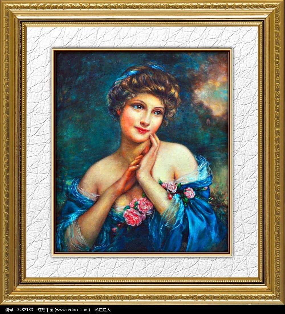 古典欧式人物油画图片