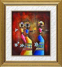 重彩民族人物装饰画