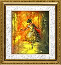 重彩舞蹈女孩油画