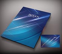 蓝色科技宣传册封面设计